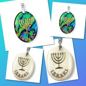 Menorah Israel Necklace (Women)