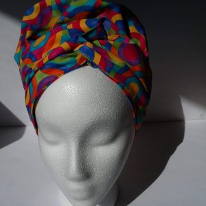 """The """"Wrap"""" Gown belted bonnet"""